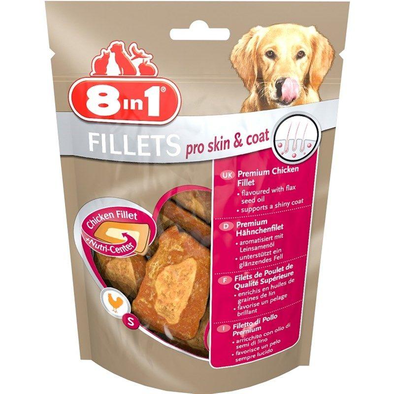 8in1 Fillets Pro Skin ve Coat Keten Tohumu Yağlı Köpek Ödülü 80Gr