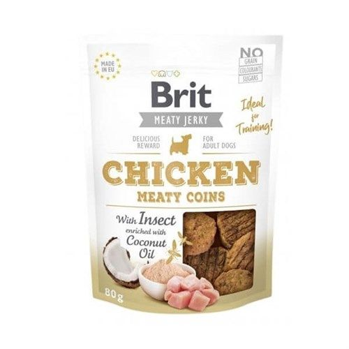 Brit Care Meaty Coins Tavuklu Hindistan Cevizi Yağlı Köpek Ödülü 80gr