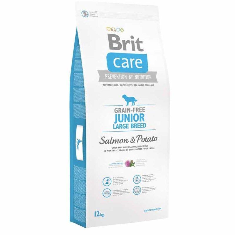 BritCare Junior Large Somon-Patatesli Tahılsız Yavru Köpek Maması 3 Kg