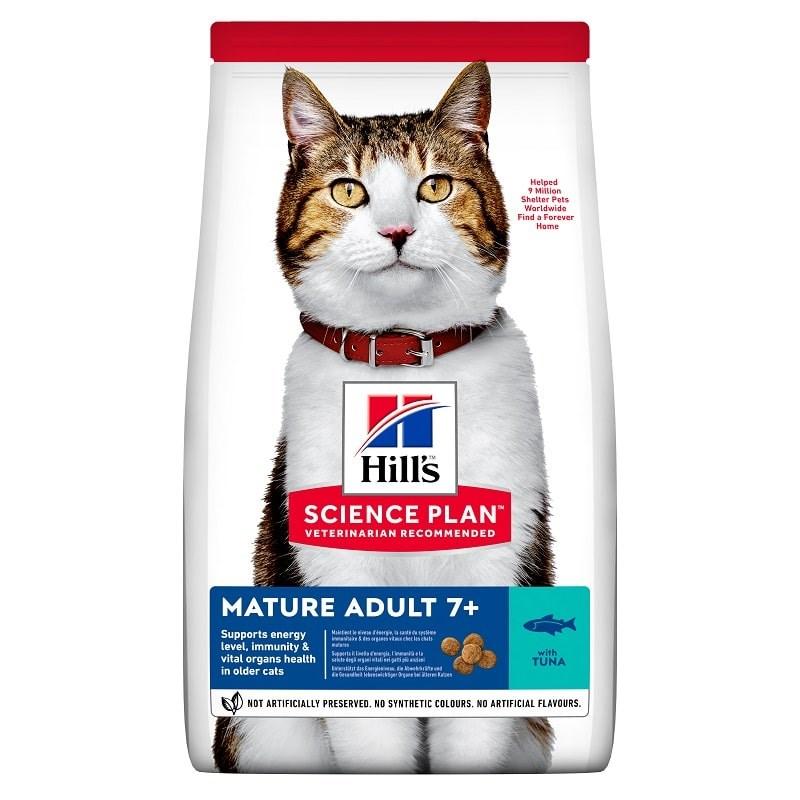 Hills Feline Mature +7 Yaşlı Tuna Balıklı Kedi Kuru Maması 1.5 Kg