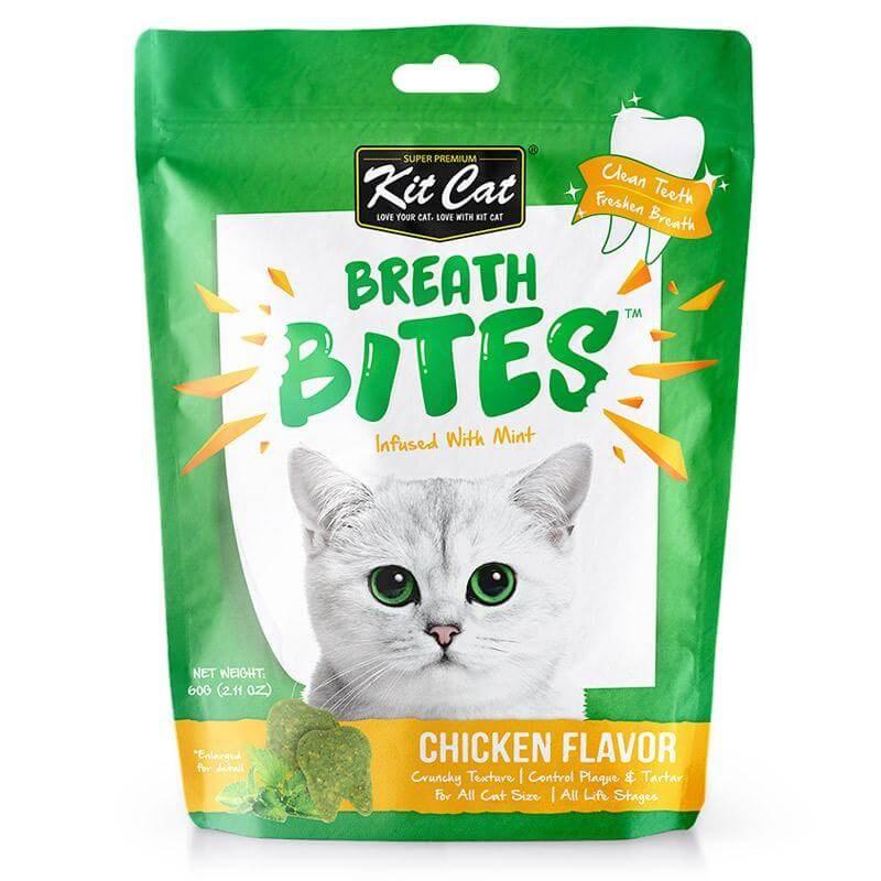 Kit Cat BreathBites Chicken Flavor Kedi Ödül Maması 60g