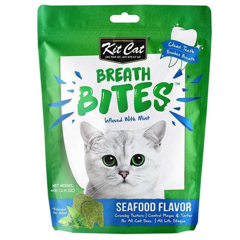 Kit Cat BreathBites Seafood Flavor Kedi Ödül Maması 60g