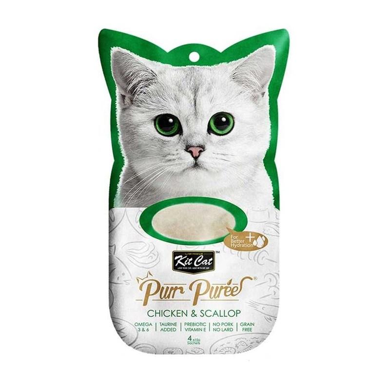 Kit Cat Purr Puree Chicken & Scallop Kedi Ödülü