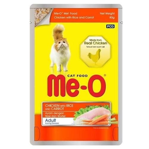 ME-O Tavuk Pirinç ve Havuçlu Pouch Kedi Konservesi 80gr