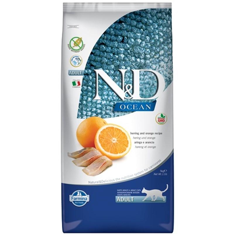 N&D Ocean Balık Ve Portakallı Tahılsız Kedi Maması 5 Kg