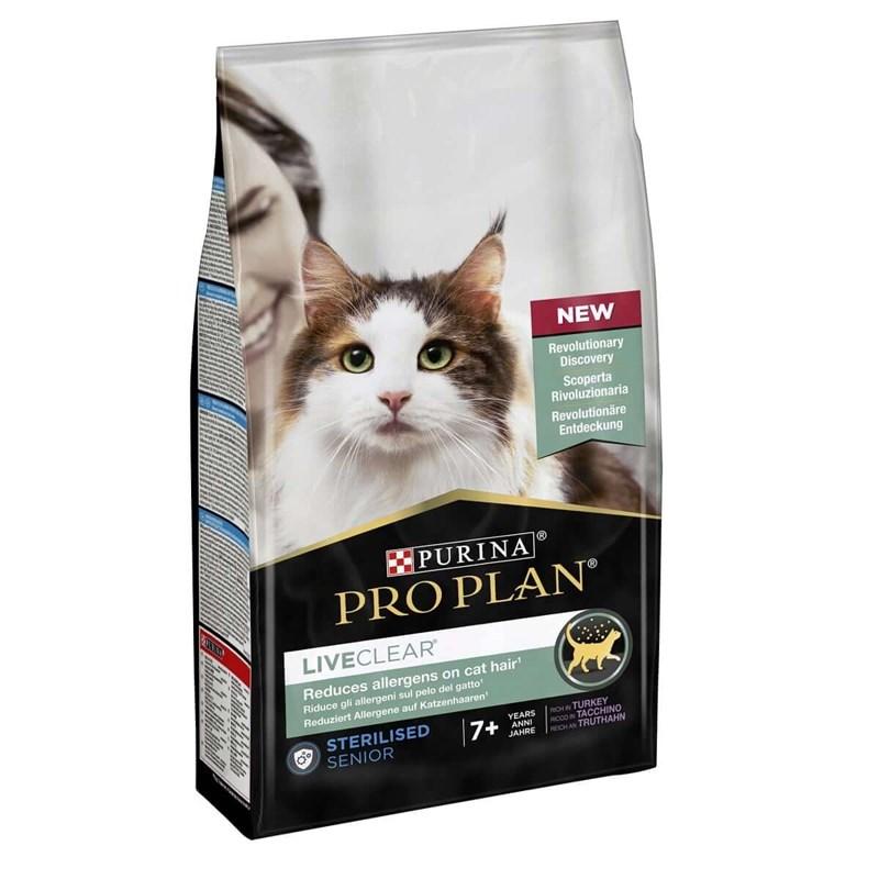 ProPlan LiveClear Steril +7 Hindili Yaşlı Kısır Kedi Maması 1.4kg