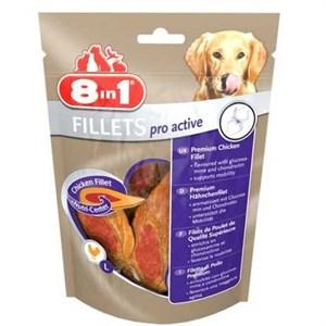 8in1 Poch Fillets Pro Active Glikozamin Katkılı Köpek Ödülü 80Gr