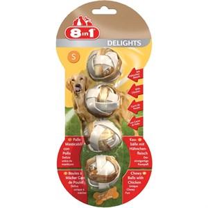 8in1 Delights Bones Köpekler İçin Çiğneme Topu Small 4 Adet