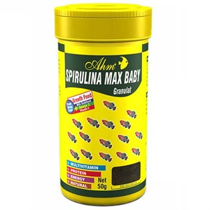 Ahm Marin Spirulina Max Baby Balık Yemi 100 Ml