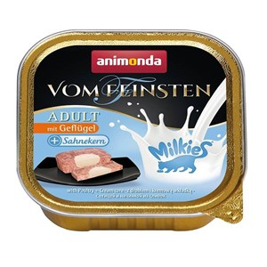 Animonda Vom Feinsten Milkies Kümes Hayvanı KremaKedi Konservesi 100gr