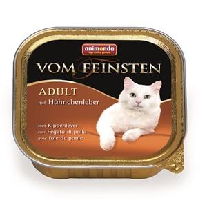 Animonda Vom Feinsten Tavuklu ve Ciğerli Kedi Konserve Maması 100Gr