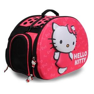 Hello Kitty Eva Kabartmalı Pembe Kedi Taşıma Çantası