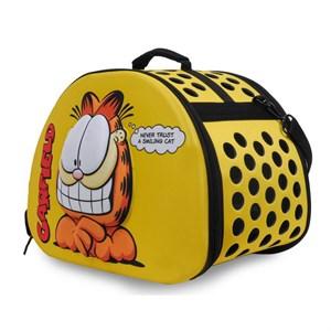 Garfield Eva Kabartmalı Sarı Kedi Taşıma Çantası