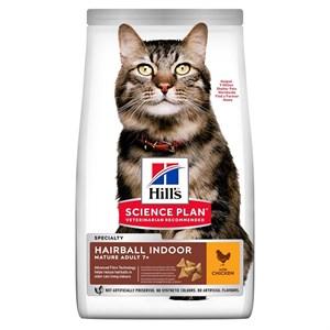 Hills Mature+7 Hairball Indoor Tavuklu Yaşlı Kedi Maması 1.5Kg