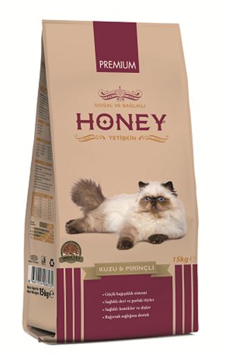 Honey Premium Kuzu Etli Pirinçli Yetişkin Kedi Maması 15 Kg