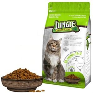 Jungle Tavuk-Balıklı Yetişkin Kedi Maması 1,5 Kg