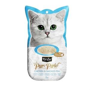 Kit Cat Purr Puree Chicken & Smoked Fish Kedi Ödülü