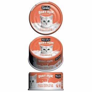 KitCat Keçi Sütlü Gourmet Tavuklu&Somonlu Kedi Konservesi 70g