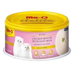 ME-O Delite Tahılsız Keçi Sütlü Tavuklu Yavru Kedi Konservesi 80gr