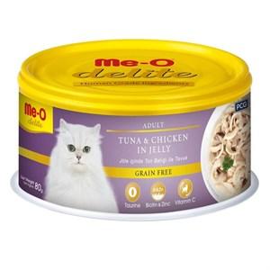 ME-O Delite Tahılsız Ton Tavuk Jelly Kedi Konservesi 80gr