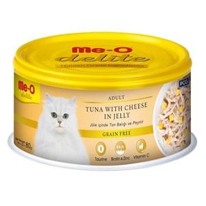 ME-O Delite Tahılsız Ton ve Peynirli Jelly Kedi Konservesi 80gr
