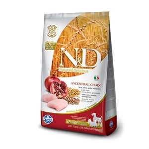 N&D Düşük Tahıllı Tavuklu Narlı Yaşlı Mini Köpek Maması 2.5Kg