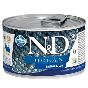 N&D Mini Ocean Somon Balıklı Köpek Konservesi 140 GR