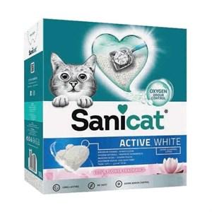 SaniCat Active White Lotus Ultra Topaklanan Kedi Kumu 6lt